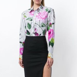 Off-White c/o Virgil Abloh Striped Floral Shirt